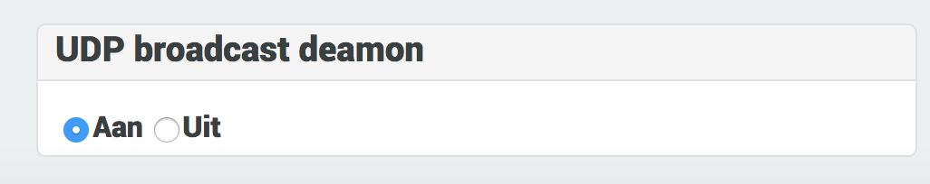 UDP deamon aan